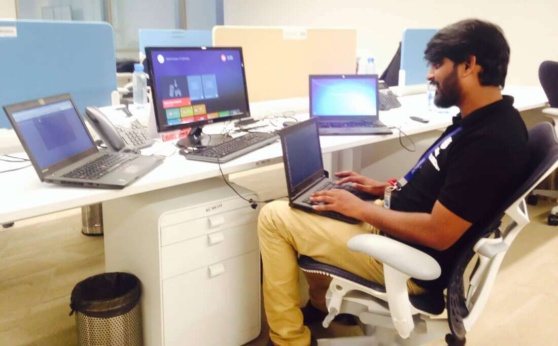 kaustubh working as a information security analyst at Jio