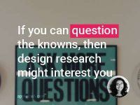 Design Research is a new buzz word people are hearing these days