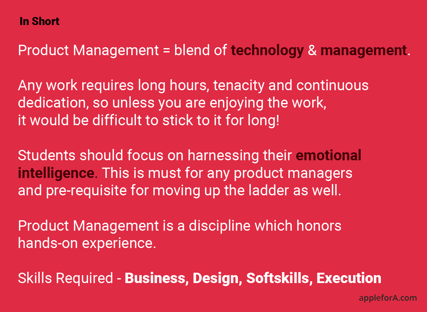 Product Management = blend of technology & management