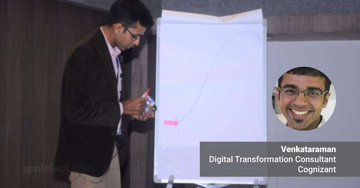 digital transformation consultant cognizant Venkataraman taking a workshop