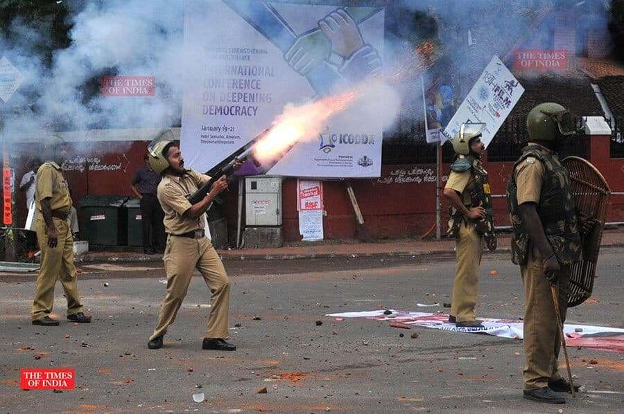 photojournalist times of india rakesh shot image police firing
